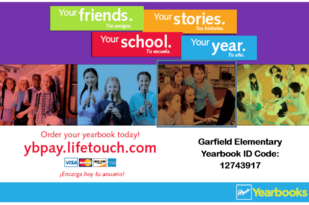 Garfield Elementary Lifetouch Yearbook Flyer
