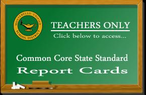 Teachers Only Report Card Access Chalk Board Logo